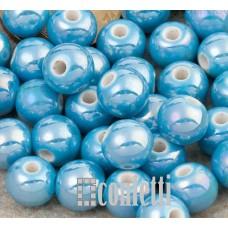 Керамические бусины светло-синие 8 мм, B00320