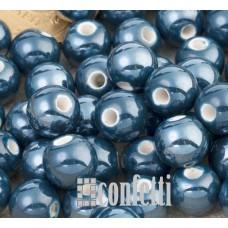 Керамические бусины темно-синие 8 мм, B00321