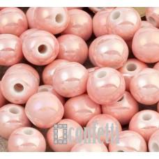 Керамические бусины розовые 8 мм, B00322