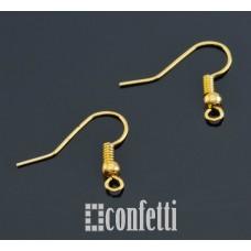 Швензы-крючки, 19*20, желтое золото, F00076
