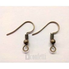 Швензы-крючки, 20*18, бронза, F00077