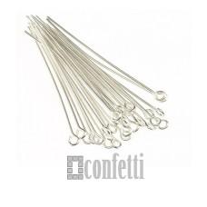 Штифт (пин) с петелькой 40х0,7 мм, серебро (1 шт), F00083