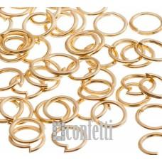 Колечки соединительные 5 мм русск.золото (10 шт)