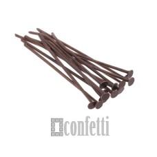 Штифт (пин) - гвоздик 35 мм, медь (10 шт)