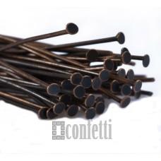 Штифт (пин) - гвоздик 28 мм, медь (10 шт)
