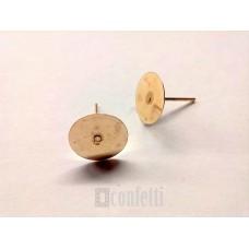 Пусеты, 10 мм, русское золото, F00187