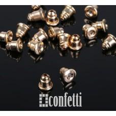 Заглушки для серег с силиконовой вставкой, русское золото, F00195