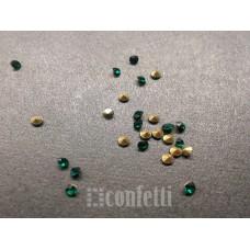 Стразы ювелирные, 1,9 мм, Зеленые