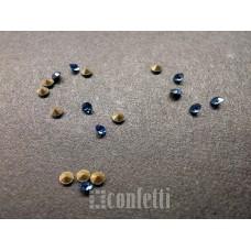Стразы ювелирные, 1,8 мм, синие