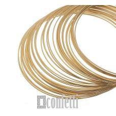 Мемори проволока, 60 мм, желтое золото, F00609