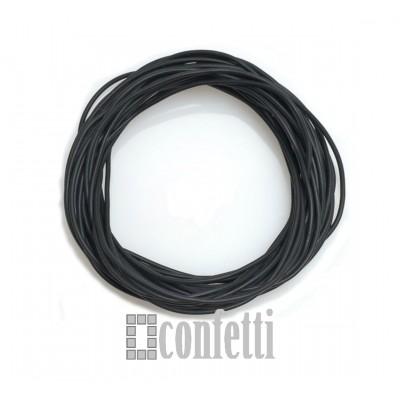 Шнур каучуковый черный матовый, эластичный