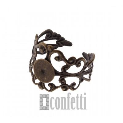 Основа для кольца винтажная с площадкой