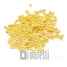Кримпы (зажимные бусины) 2 мм, 10 шт желтое золото