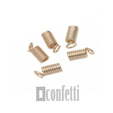 Концевик-пружинка, русское золото, 7*4мм, F00792