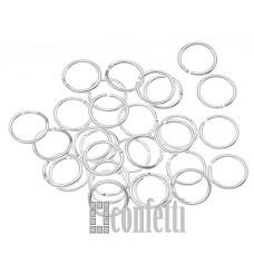 Колечки соединительные 7*1 мм серебро (10 шт)
