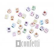 Бусины буквы английские, цвет микс