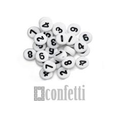 Бусины цифры, цвет бело-черный, 7 мм