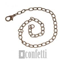 Основа для браслета с латунным замочком, F01020