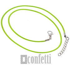 Основа для кулона, цвет неоновый зеленый