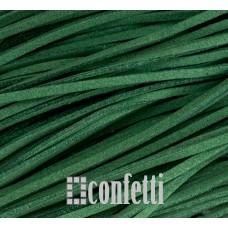 Шнур под замшу, зеленый