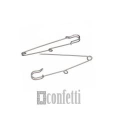 Основа для броши, булавка с одной петелькой, 60 мм, платина, F01085