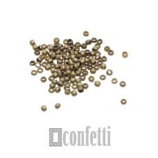 Кримпы (зажимные бусины) 2 мм, светлая бронза, 10 шт