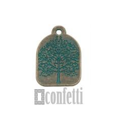 Подвеска Дерево, бронза с патиной