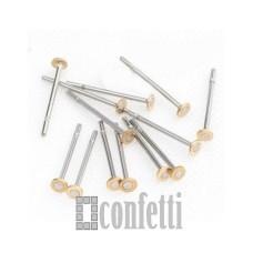 Пусеты из хирургической стали, 12 мм, диаметр шляпки 2 мм, F01210