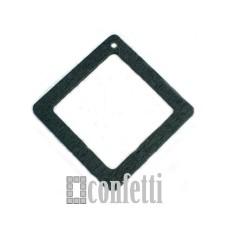 Подвеска деревянная Рамка квадратная, цвет черный, 54 мм, F01229