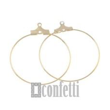Кольцо-коннектор для сережек медное, цвет золото, 30 мм, F01256