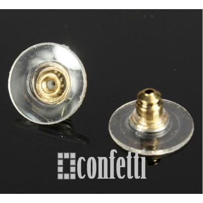 Заглушки для серег с силиконовой вставкой и пластиком
