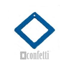Подвеска деревянная Рамка квадратная, цвет синий, 4 см, F01393