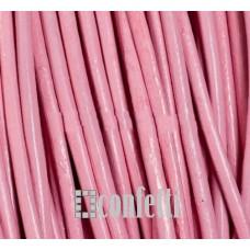 Шнур кожаный круглый, цвет розовый, диаметр 2,5 мм (отрезок 20 см), F01397