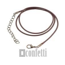 Основа для кулона, цвет коричневый, F01401