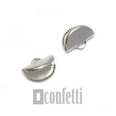 Концевики-люкс из хирургической стали, цвет платина, F01445