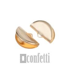 Концевики-люкс из хирургической стали, цвет золото, F01446