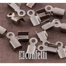 Концевик для шнура из хирургической стали, 10*4,5 мм, F01447