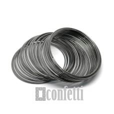 Мемори проволока, 55 мм, темный металл, F01454