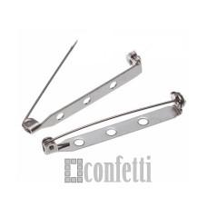 Основа для броши из хирургической стали без покрытия 38*5 мм, F01463