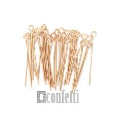 Штифт (пин) с петелькой 40 мм, русское золото (1 шт), F01493