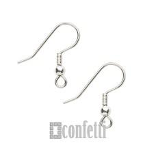 Швензы-крючки, 17*20, серебро, F01495