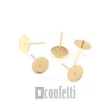 Пусеты, 6 мм, русское золото, F01496