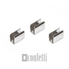 Зажим-соединитель для шнура, 8 мм, платина, F01489