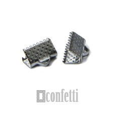 Зажимы для лент 10 мм, платина, F01500
