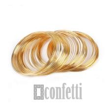 Мемори проволока, 55*0,7 мм, русское золото, F01508