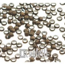 Кримпы (зажимные бусины) 2,5 мм, 10 шт, бронза, латунь, F01514