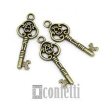 Подвеска Ключик ажурный, бронза, 23*11 мм, F01524