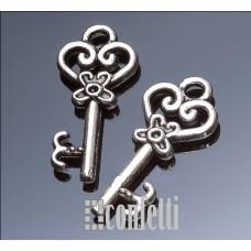 Подвеска Ключик, античное серебро, 21*9 мм, F01534