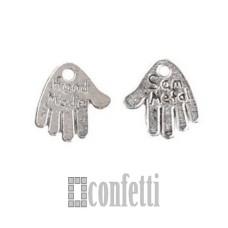 Подвеска Ладошки Hand made Sam metal, античное серебро, 12,7*12 мм, F01538