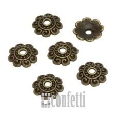 Шапочки для бусин, 8 мм, бронза, F01546